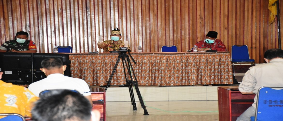 Bahas Covid-19, Bupati Video Conference Bersama Mendagri